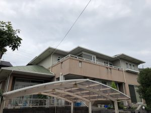 外壁塗装前|大分市青葉台N様邸外壁塗装リフォーム工事施工事例|リフォネ大分