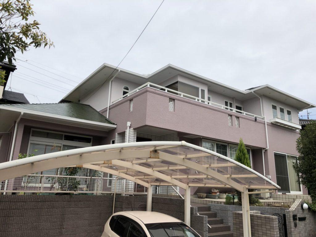 外壁塗装後|大分市青葉台N様邸外壁塗装リフォーム工事施工事例|リフォネ大分