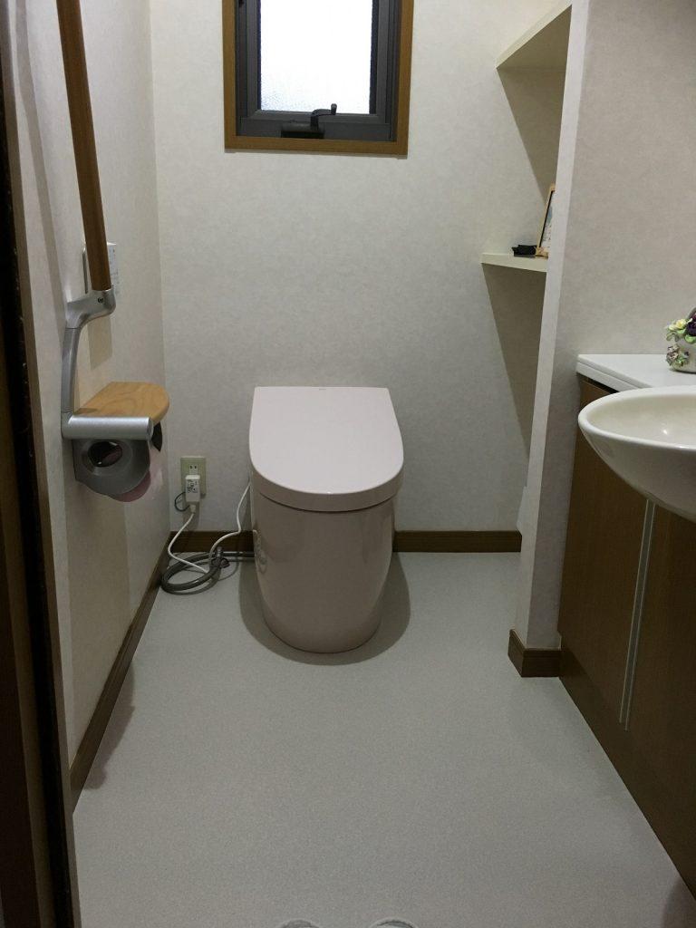 大分市緑が丘 A様邸 トイレ交換リフォーム工事