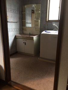 リフォーム前|大分市けやき台 M様邸 洗面室リフォーム工事|リフォネ大分