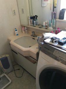 洗面脱衣室リフォーム前|大分市明野高尾O様邸 水回りリフォーム改修工事|リフォネ大分