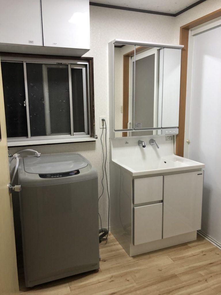 リフォーム後|大分市K様邸 洗面脱衣室リフォーム工事|リフォネ大分施工事例