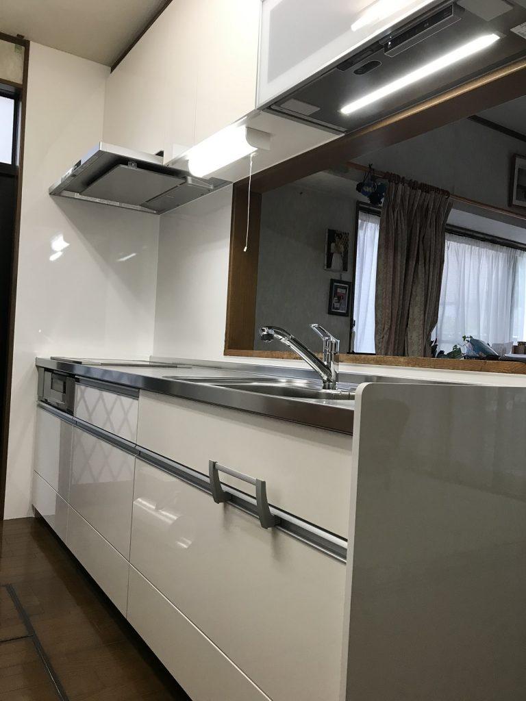 大分市 キッチン改修工事 F様邸