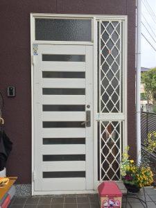 大分市Z様邸 玄関ドアのリフォーム施工前