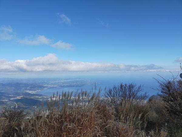 別府鶴見岳の頂上の写真