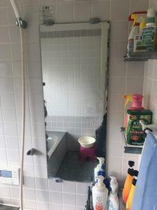 大分市M様邸 浴室鏡改修工事 リフォーム前