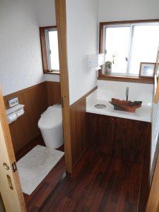 大分市K様邸トイレ・洗面化粧台リフォーム工事 リフォーム後