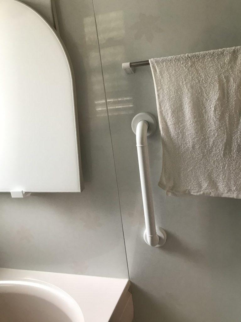 大分市 浴室手すり取り付け工事 H様邸<br />介護保険を利用しての住宅改修