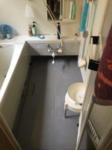 臼杵市S様邸での浴室・洗面室改修工事 浴室リフォーム前