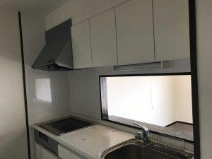 大分市乙津のマンションリノベーション キッチン ビフォー