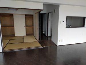 大分市乙津にあるマンション物件のリビング リノベーション前2