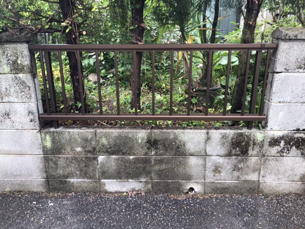 大分市Y様邸 フェンス取付工事<br />木製からステンレス製のフェンスへ
