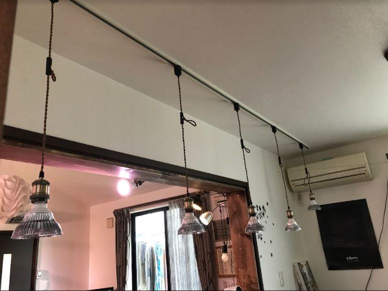 大分市M様邸 照明新設工事<br />ペンダント照明用のコンセント工事
