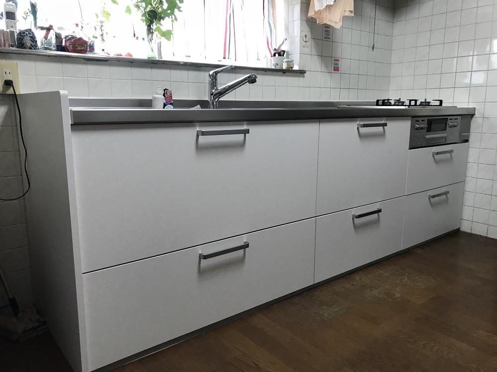 大分市Y様邸でのキッチン改修工事のリフォーム施工事例 リフォーム後