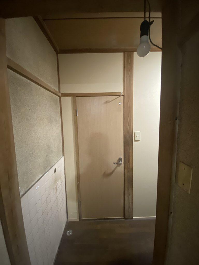 豊後大野市H様邸 トイレ改修工事 ドア交換後
